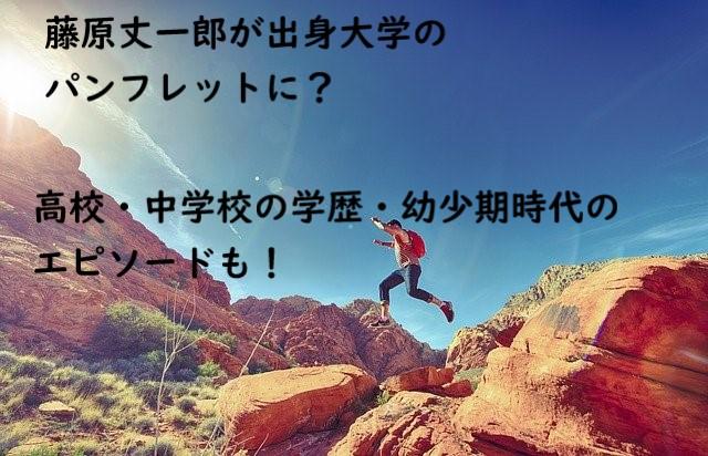 藤原丈一郎 大学