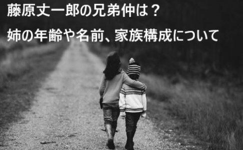 藤原丈一郎 兄弟